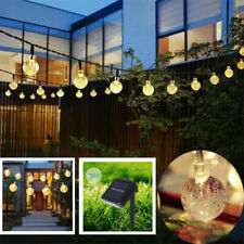 Outdoor Garden Solar String Fairy 30 Led Globe Ball Weatherproof Lights Lanterns