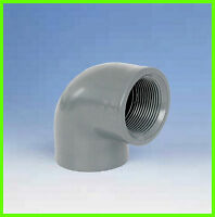 "PVC Winkel 90° 50-1 1/2"", Klebe-/Gewindemuffe IG"