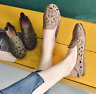 Women's Loafers Hollow Casual Flat Shoes Round Toe Pumps Light Comfy Slip On