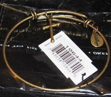 Bella Ryann Expandable Bracelet Cross Charm Gold Color          *