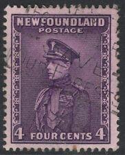 NEWFOUNDLAND SG212 1932 4c BRIGHT VIOLET USED