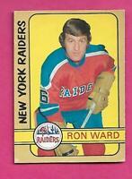 1972-73 OPC WHA # 332 RAIDERS RON WARD ROOKIE HIGH # EX-MT CARD (INV# C9263)
