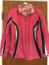 Girls Zero Xposur Reversible Rain Spring fall Jacket Sz XL 16 pink FREE SHIP