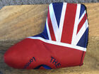 THE GROVE PUTTER LEATHER HEAD COVER (BLADE) BRITISH FLAG NEW AMAZING QUALITY