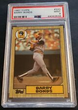1987 BARRY BONDS TOPPS ROOKIE  #320  PSA  9 PIRATES CENTERED (416)