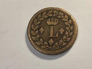 Monnaie France Louis XVIII Un décime. 1814. BB (47-13)