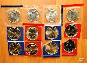 2005 - 2010 12 Coin PD Kennedy Half US Mint Set SATIN Coins in Mint Packaging