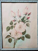 "Marsden Hartley Original Watercolor Still Life Wild Roses 13-1/2"" x 10-3/8"""