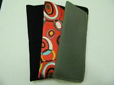 Lot of 3 Reading Glasses Cases Neoprene  NO GLASSES INCLUDED JUST CASES NOS