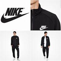 Nike Sportswear Polyknit Mens Tracksuit - Zip Front Top & Bottom - Black & NEW*