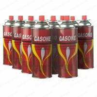 Gas One Butane Fuel Canisters for Portable Camping Stoves - Pack of 12