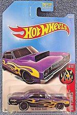 2017 Hot Wheels #160 HW Flames 8/10 '68 DODGE DART Purple w/Black Pr5 Spoke