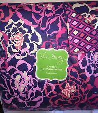 New Vera Bradley Katalina Pink Sa Comforter Set Full Queen Bedding Nwt 3 Pc