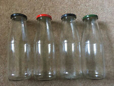 Four (4) Large Jars/Bottles For Preserves/Up Cycling