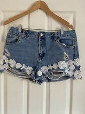 Lovely Size 16 Denim Shorts By Primark