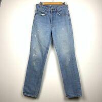 Levi's Orange Tab Light Wash Straight Paint Distressed Vintage Jeans Size 32x34