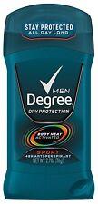 Degree Men Invisible Solid Antiperspirant Deodorant, Sport, 2.7 oz (Pack of 12)