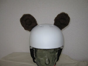 Brown Bears For Ski Helmet Snowboard Bike Plush 1 Pair Braun