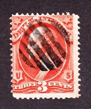 US O17 3c Interior Department Used w/ Grid Cancel