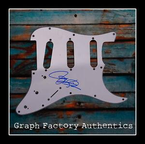 GFA Tesla Rock Band JEFF KEITH Signed Electric Pickguard AD1 COA