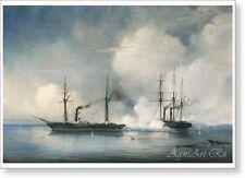 "Battle of the Steam Frigate ""Vladimir"". By Alexey Bogolyubov. Fine Art Print New"