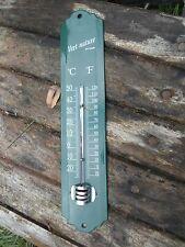 THERMOMETRE EMAILLE 25 CM UNI VERT EMAIL VERITABLE 800°C NEUF FABRIQUE EN FRANCE
