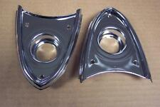 1955 1956 Ford & Thunderbird NEW Backup Light Chrome Housings-Pair 56 55