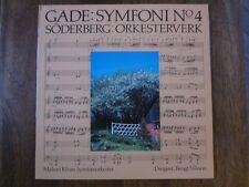 Oresound LP - MKS-LP-821. Neils Wilhelm Gade : Symfoni No4. Con Hans Soderberg.