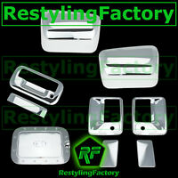11-16 Super Duty Chrome HALF Mirror+4 Door Handle w/ PSG kh+Tailgate+GAS Cover