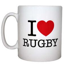 MugBug I Love Rugby Mug Boxed Red Love Heart