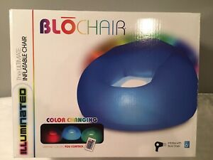 Blochair Inflatable Chair Illumina Color Changing LED w/ Remote B&D Group