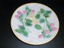 Antique Victorian Etruscan Majolica Griffin Smith  Hill Strawberry & Apple Plate