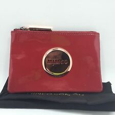 Mimco Small Coin Pouch Redmars Patent Leather Rosegold Hardware