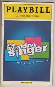"""The Wedding Singer""  Playbill 2006   Stephen Lynch, Laura Benanti, Rita Gardner"