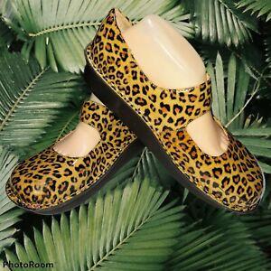 Alegria PG Lite Paloma Cheetah Print  Patent Leather Mary Jane Shoes Sz 11.5/12