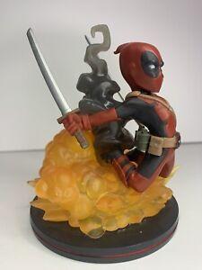 Q-FIG Red Deadpool Loot Crate Figure, Lootcrate Exclusive Deadpool Figurine