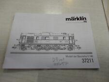 Märklin HO 37211 Lok -Bedienungsanleitung-Anleitung-Gebrauchsanleitung