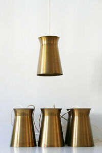 ONE of SEVEN Mid Century Modern BRASS Hanging Lights PENDANT LAMPS 1950s GERMANY