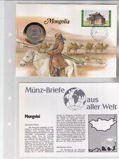 Numisbriefe aus aller Welt - Mongolei - und Infokarte