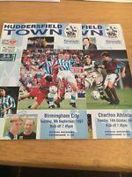 Huddersfield Town 1997/98 V Birmingham City And Charlton Athletic
