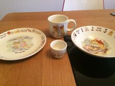 Vintage Poole Pottery Children's Nursery Crockery Set  Bowl Plate Mug & Egg Cup