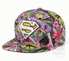 ✅UK✅ UNISEX SUPERMAN STYLE CAP /Snapback/Flat cap/Fashion Hats/Hiphop/Grime✅(26)