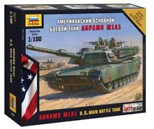 Zvezda 1/100 ABRAMS M1A1 U.S. MAIN BATTLE TANK # 7405