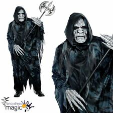 *Adult Mens Soul Taker Grim Reaper Fancy Dress Zombie Graveyard Costume Outfit*
