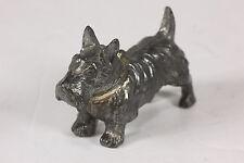 "Metal Alloy Scottie Dog Scottish Terrier Miniature Figurine Schnauzer 2 7/8"" L"