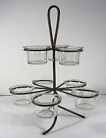 Crate & Barrel~2 tier Votive Bronze metal loop, 8 Candle Holder /Centerpiece-NEW