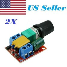 2X Mini Dc 3V-35V 5A Motor Pwm Speed Controller Speed Control Switch Led Dimmer