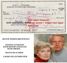 JOANNE WOODWARD NEWMAN  FILM STAR HAND SIGNED CANCELLED BANK CHEQUE 1969 RARE