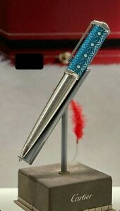 """CARTIER Santos Dumont Pen Moucharaby Motif Engraved """"Middle East Exclusive Only"""""""