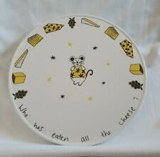 ❀ڿڰۣ❀ JOANNA HARTRUP BOUTIQUE POTTERY Hand Painted MOUSE Ceramic CHEESE PLATTER